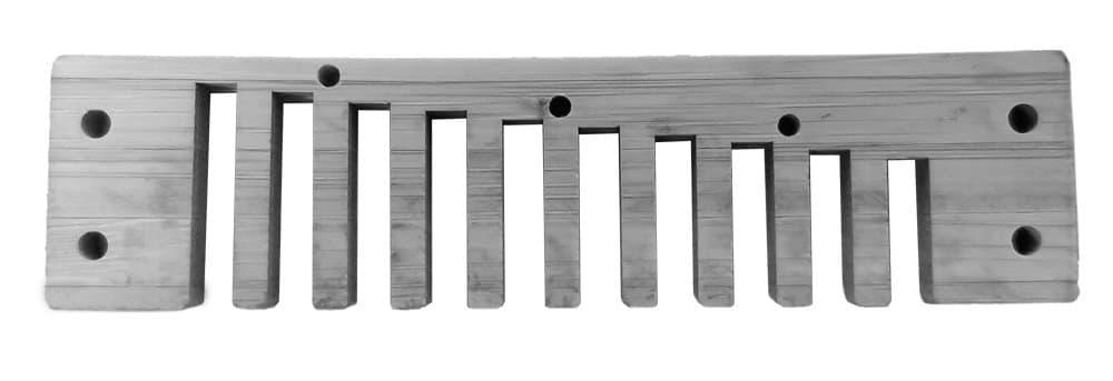 Diatonic harmonica comb